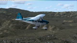 29 Palms Airport (KTNP), California.  Piper PA22 Tri Pacer with FSX and ORBX Scenery