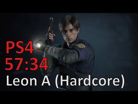 Resident Evil 2: Leon A Hardcore S+ Speedrun (PS4 Pro) - 57:34 IGT