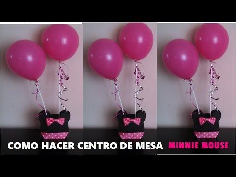 CENTRO DE MESA MINNIE MOUSE - YouTube
