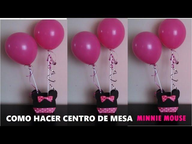 Centro de mesa minnie mouse 123vid for Como hacer un centro de mesa facil