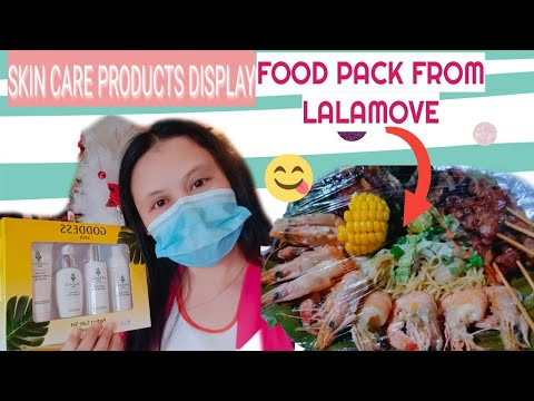 Skin Care Products Display + @Lalamove Food Pack Delivery / Maria Nilda Mativo