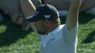 Ryan Moore chips in for eagle at Waste Management