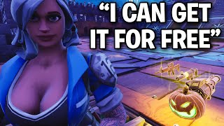 Scammer explains how to get anything in game! 😂😆 (Scammer Get Scammed) Fortnite Save The World