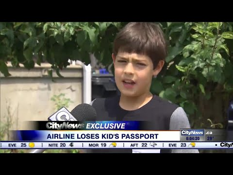Airline loses child's passport, leaving him stranded at Pearson