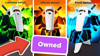 Getting EVERY ELEMENT and the BEST RANK in Roblox Ninja Legends!