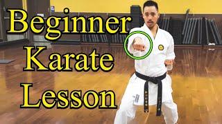 Shotokan Karate Lesson for Beginners
