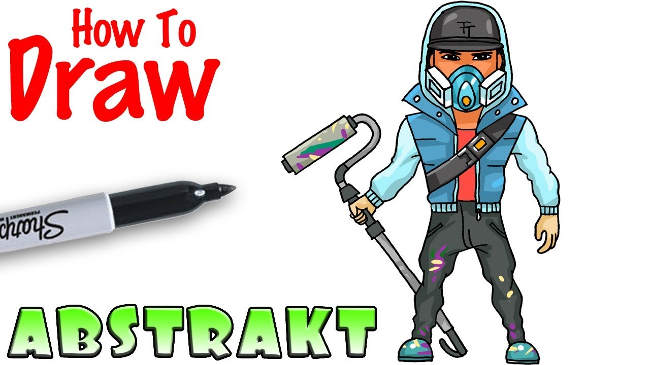 How To Draw Abstrakt Fortnite Youtube