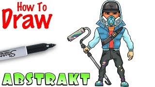 How to Draw Abstrakt | Fortnite