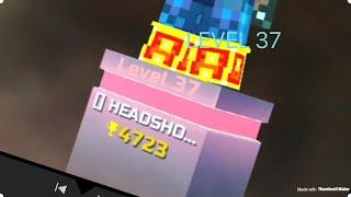 I Beat A Level 37 (Pixel Gun 3D Gameplay)
