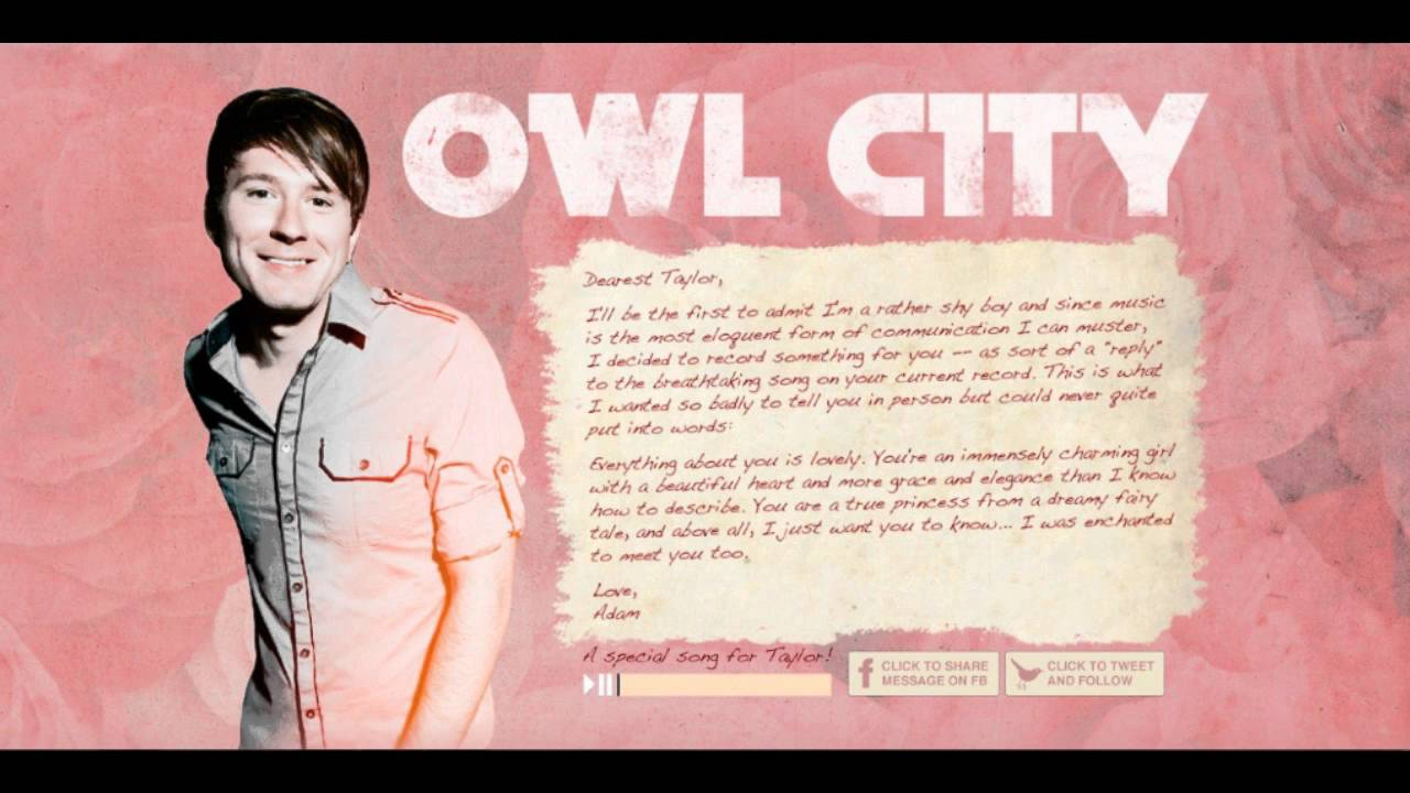 Owl city dating