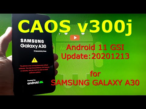 CAOS v300j Android 11 for Samsung Galaxy A30 Update: 20201213
