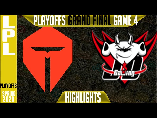 TES vs JDG Highlights Game 4 | LPL Spring 2020 GRAND FINAL | Top Esports vs JD Gaming G4