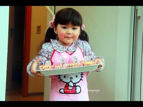 Pasa Weingping 4 YO. ทำเค้กวันเกิด Hello Kitty Cupcake