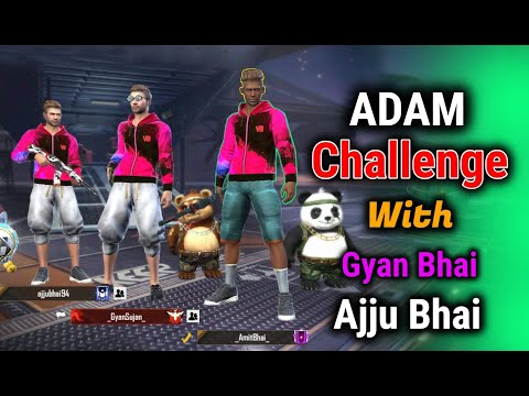 ADAM Challenge With Gyan Gaming And Total Gaming - Garena Free Fire - Desi Gamers