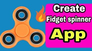 Create a fidget spinner app using sketchware | Sketchware tutorials #9