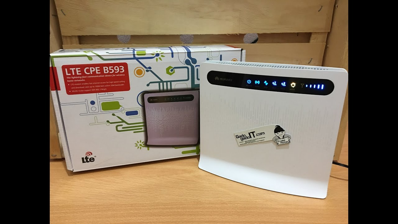 UNBOXING Modem Mifi / Wireless Router HUAWEI B593 4G LTE CPE (UNLOCK ALL  GSM)