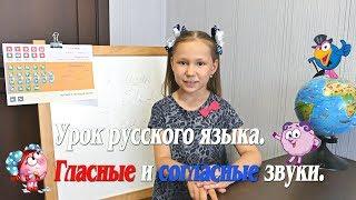Урок русского языка. Гласные и согласные звуки.