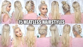 15 BRAIDED HEATLESS BACK TO SCHOOL HAIRSTYLES!