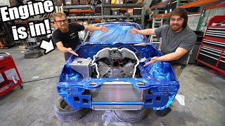 homepage tile video photo for LS Miata Part 4 | Drivetrain Assembly, Install, Building A Custom Radiator, And Body Work!