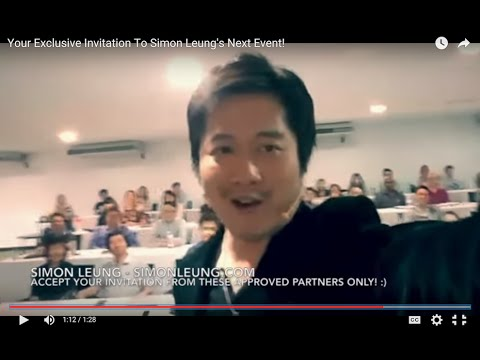 Your Exclusive Invitation To Meet Simon Leung At His Next Live Event!