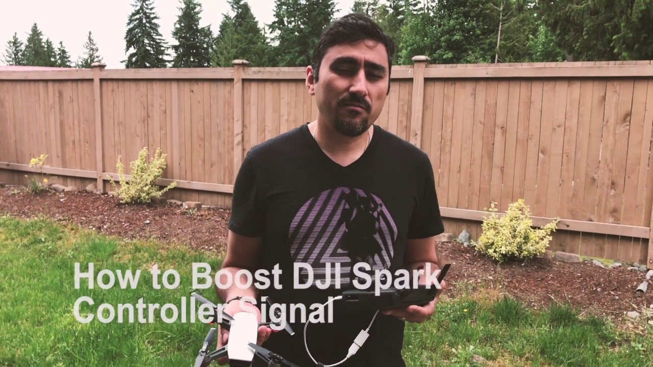 How To Boost Dji Spark Remote Controller Signal Youtube