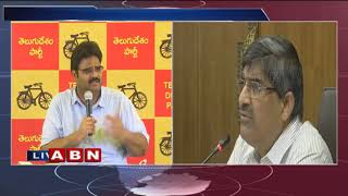 TDP Leader Lanka Dinakar Holds Press Meet, Serious On LV Subramanyam | ABN Telugu