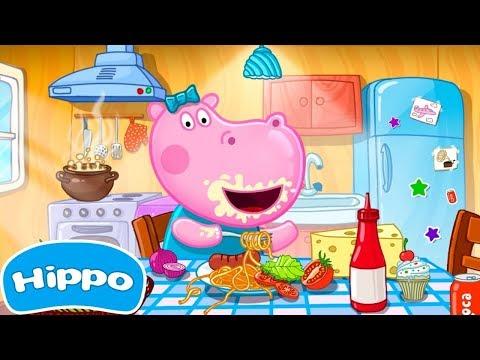 Гиппо 🌼 Кафе менеджер 🌼 Веселая кухня 🌼 Мультфильм Обзор игры
