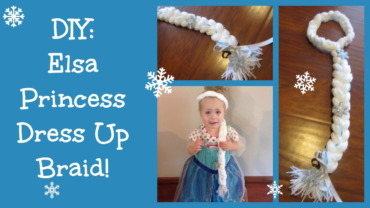 Diy elsa frozen princess dress up braid youtube solutioingenieria Choice Image