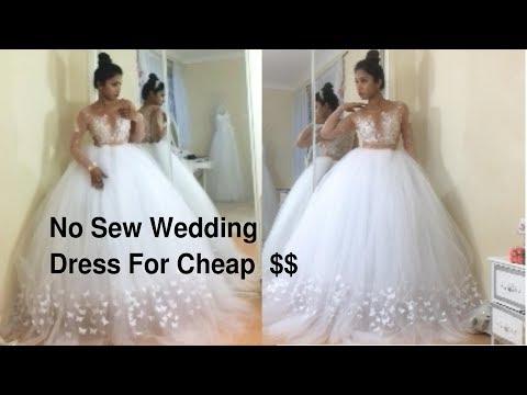 making-a-no-sew-wedding-dress-from-scratch.bare-skin-effect-wedding-dress-diy