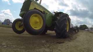 John Deere 830 Diesel Rice Speical Community Antique Tractor Pullers Monroe WI 7/20/13
