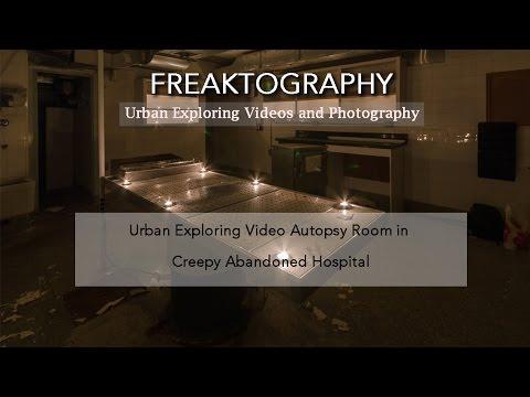 Abandoned Hospital Autopsy Room CREEPY DARK AUTOPSY ROOM