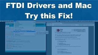 Ftdi usb serial converter driver