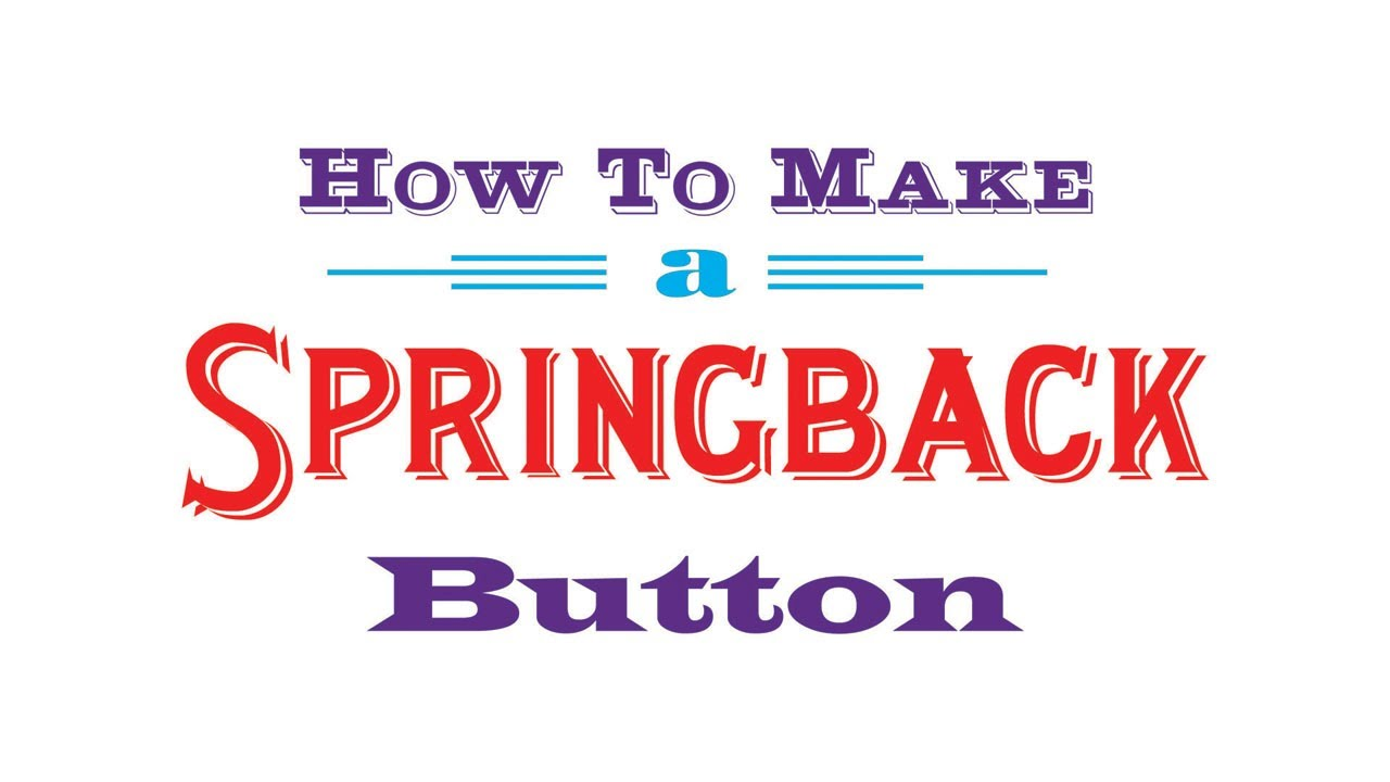 how to make a button with a spring lock pin youtube. Black Bedroom Furniture Sets. Home Design Ideas