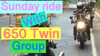 Sunday ride with Twins 650 group