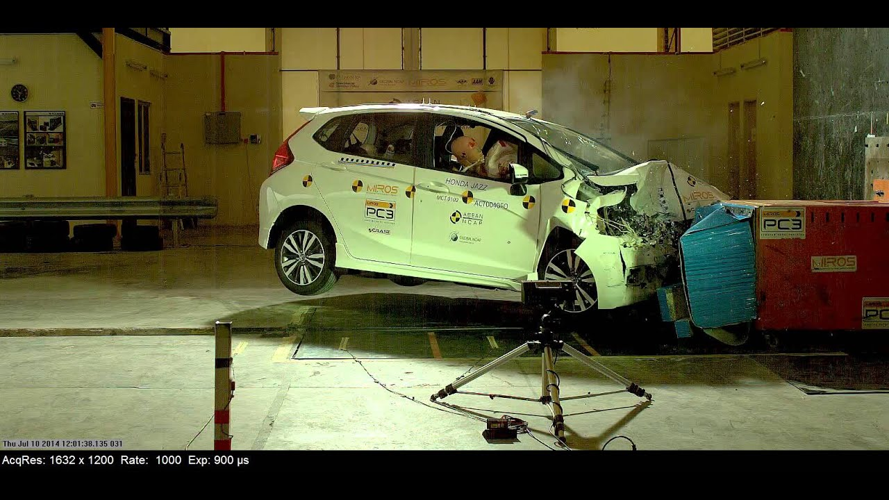 ANCAP CRASH TEST: Honda Jazz (July 2014   Onward) Scored The Maximum 5 Star  ANCAP Safety Rating   YouTube