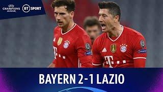 Bayern Munich vs Lazio (2-1) | Lewandowski Scores Again As Bayern Win | Champions League Highlights