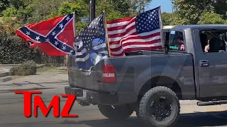 Parade of Trucks with Trump, Confederate Flags Blaze Down L.A. Streets | TMZ