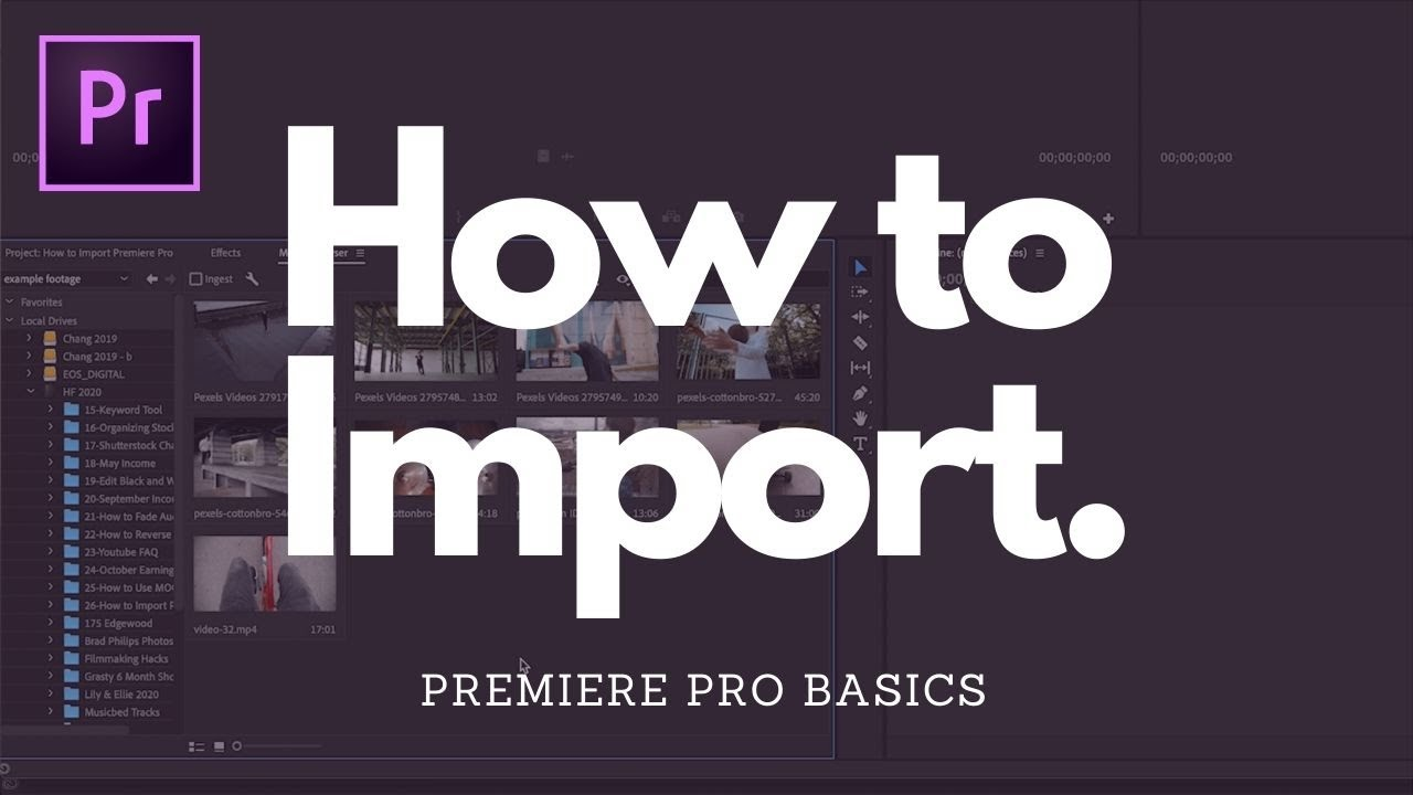 Quick and Easy: How to Import Footage in Premiere Pro for Beginners