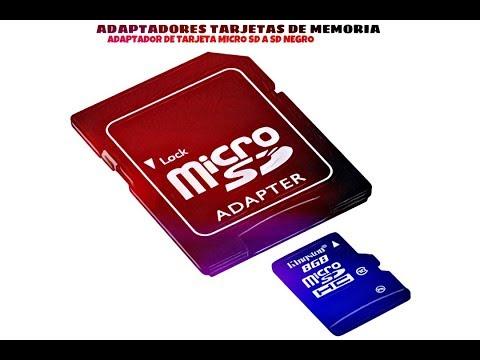 Video de Adaptador de tarjeta micro SD a SD  Negro