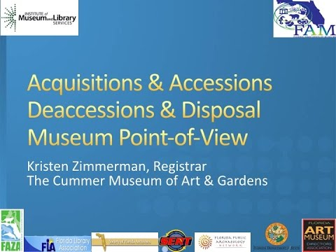 Florida Connecting to Collections 2016: Accessions & Acquisi