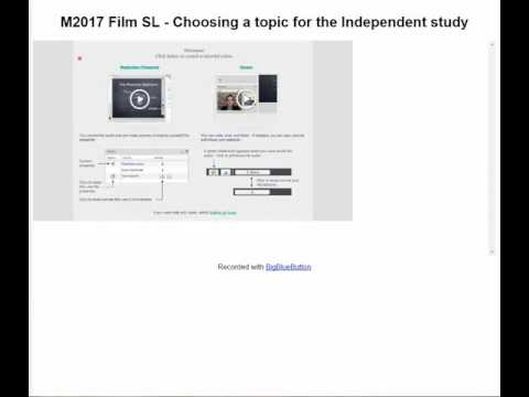 Independent Study:  Choosing a Topic
