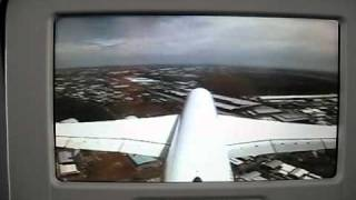 Lufthansa A380 landing Johannesburg
