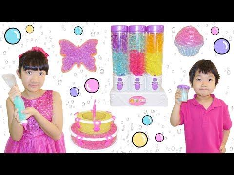 ★ぷよぷよボールケーキを作って「お誕生日パーティー!」★Orbeez Crush Sweet Treats Studio ★