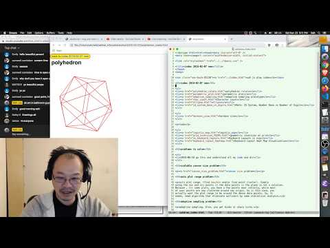 JavaScript+SVG Live Coding+tutorial. Creating Polyhedron Real-time Rotation From Scratch