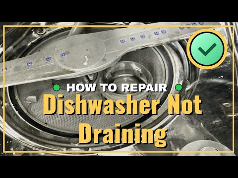 Whirlpool dishwasher repair not draining and how to clean