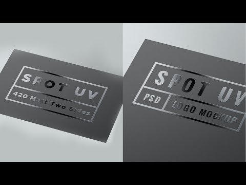 How To Make Spot UV Effect In Photoshop - How To Make Spot Gloss Effect In Photoshop