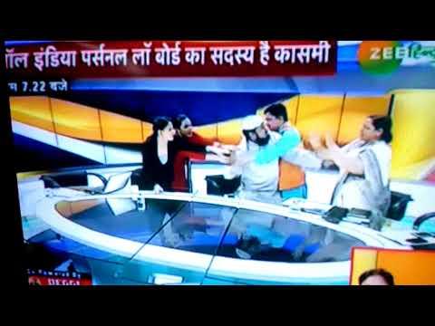 AIMPLB ke moolve Ne z Hindustan ke live TV Dibat ke Dauran ek mahilaa ke sath hata Pai