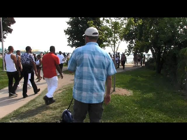 Street Preaching - Caribana Festival Boats - Toronto, Canada - Kerrigan Skelly