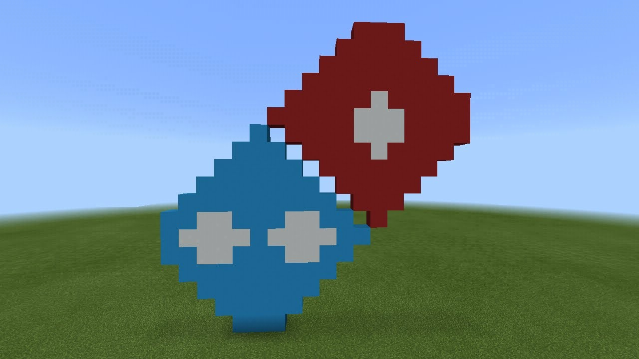 how to build the youtube logo in minecraft