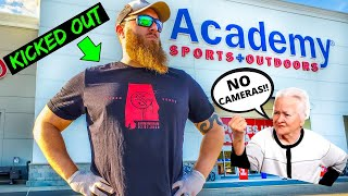 KICKED OUT of Academy for Fishing Shopping by RUDE Manager!!